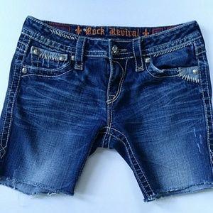 Rock Revival Buckle denim shorts Karlie 29